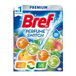 Bref Perfume Switch Juicy Peach / Sweet Apple - tuhý WC blok 50 g