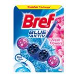 Bref Blue Aktiv Fresh Flowers - tuhý WC blok 50 g